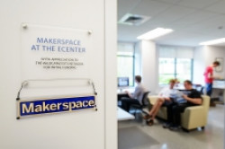 New Makerspace Entryway Sign in Madbury Commons