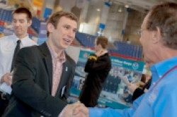 Recruiting Interns and Alumni Handshaking