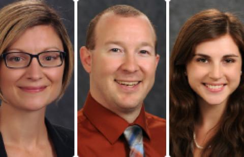 Left to Right: Erica Johnson, Jeff Lapak, Michayla Newcombe