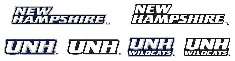 UNH Varied Athletic Wordmarks